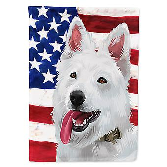 Berger Blanc Suisse American Flag Flag Canvas House Size
