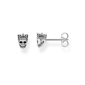 Thomas Sabo Sterling Silver Sterling Silver Skull King Ear Studs H2111-643-11