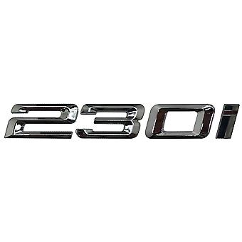 Silver Chrome BMW 230i Car Model Rear Boot Number Letter Sticker Decal Badge Emblem For 2 Series F22 F45 F46