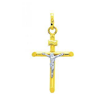 Pingente de Cristo Ouro 375/1000 bicolor (9K)