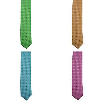 Premier Mens Mini Squares Fashion Tie (Pack of 2)