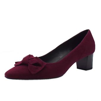 Peter Kaiser Blia Wide Fit Court Shoes In Jam Suede