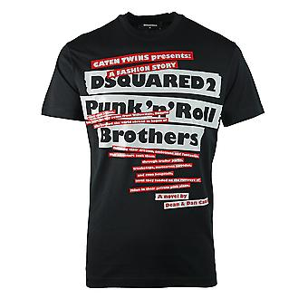 Dsquared2 Punk N Roll Logo camiseta negra