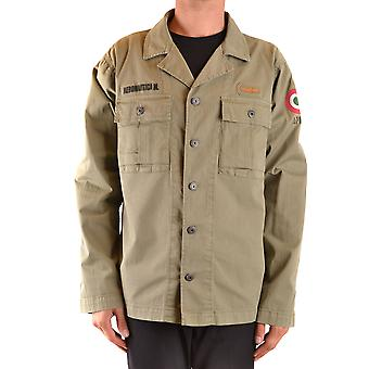 Aeronautica Militare Ezbc047034 Men's Green Cotton Outerwear Jacket