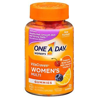 One a day vitacraves for women, multivitamin gummies, 70 ea