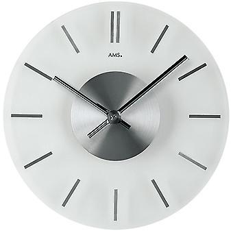 Quartz wall clock wall clock quartz mineral crystal with hour markers in aluminium