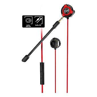 Fone de ouvido para jogos com sistem de energia do microfone ESG-1 3,5 mm Vermelho Preto