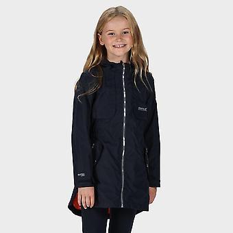 New Regatta Girls' Tarana Waterproof Long-Length Jacket Navy