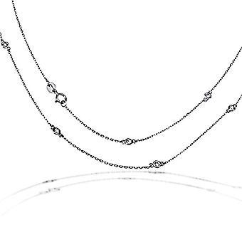Goldmaid Silver Silver Necklace With brilliant White Zirconia Cubic Zirconia 45.5cm