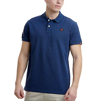 Funky Buddha Men's Polo Shirt With Embroidered Artwork