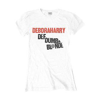 Naisten's Debbie Harry Def, Tyhmä ja Blondi Asennettu T-paita
