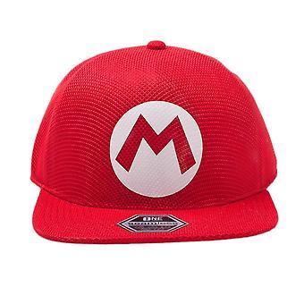 Super Mario Bros. Mario Logo Red Seamless Cap