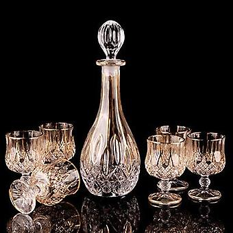 Crystal Punaviini Whiskey Brandy Lasi ja kuppi - Pullo Decanter Creative Barwarer