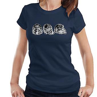 Opprinnelige Stormtrooper Imperial TIE Pilot hjelm abstrakte kvinner t-skjorte