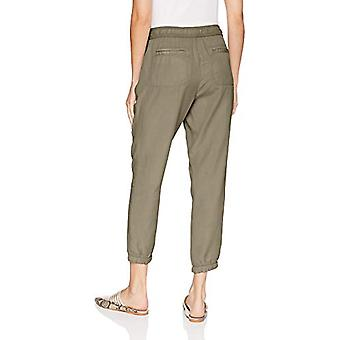 Brand - Daily Ritual Women's Tencel Welt-Pocket Jogger, Olive, 14