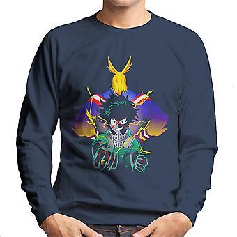 All Might And Midoriya Plus Ultra My Hero Academia Men's Sweatshirt