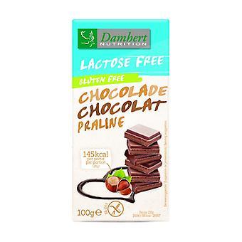 Lactose-free praline chocolate bars 100 g