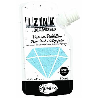 Aladine Izink Diamond Glitter Paint Sky Blue 80ml.