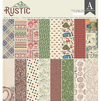 Authentique Rustic 12x12 pulgadas De papel Pad