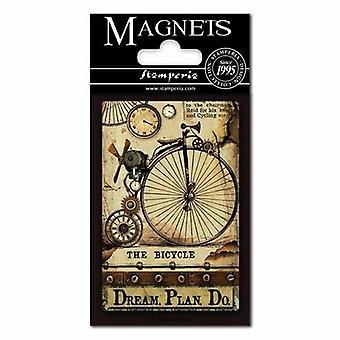Stamperia Voyages Fantastiques Bicicleta 8x5.5cm Ímã
