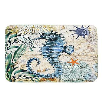 Sea Style Doormats With Turtle, Octopus, Whale, Seahorse Printing - Non Slip