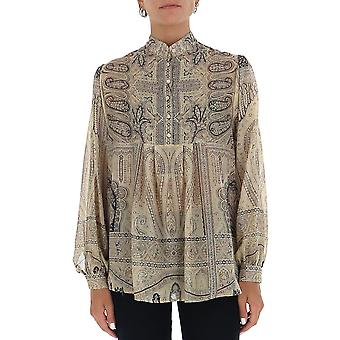 Etro 1903851090990 Frauen's Multicolor Seide Bluse