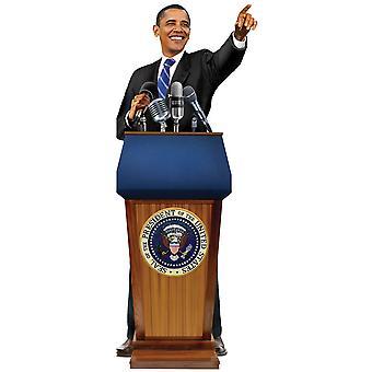 Briefpapier - Barack Obama - Kaart en Sticker Vel Nieuwe 0609