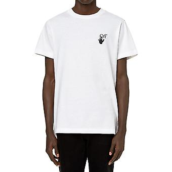 Off-white Omaa027f20fab0040110 Mænd's White Cotton T-shirt