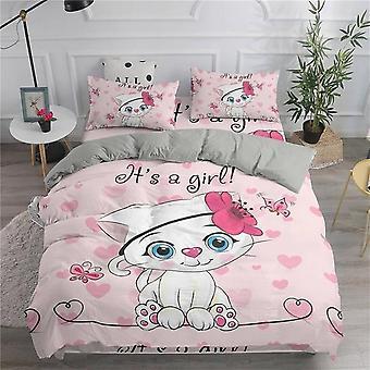 Süße Katzen gedruckt 3d Bettbezug und Kissenfall Bettwäsche Set