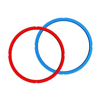 2PCS Silicone Instant Pot Sealing Ring 5/6Qt Blue/Red 24x22CM
