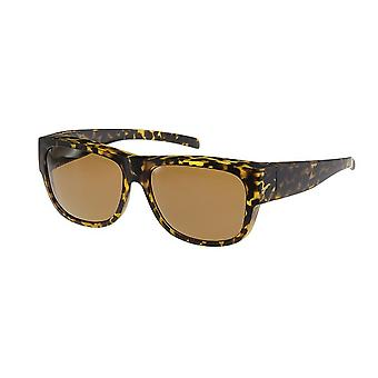 Sunglasses Women's Brown with Brown Lens VZ0024B