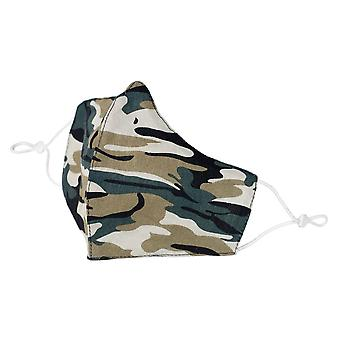 Camouflage Print Polycotton Fabric Face Mask