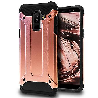 Hard Mobile Shell for Samsung Galaxy A6+ (2018) Pink Gold Hybrid