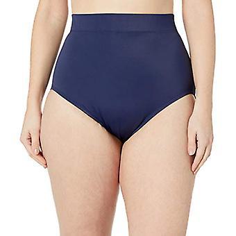 Brand - Coastal Blue Women's Plus Size Control Swimwear Bikini Bottom, Navy, 3X (24W-26W)