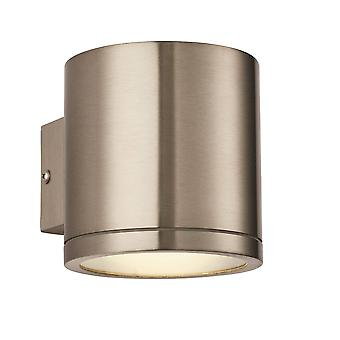 Endon Nio - LED 1 Light Outdoor Wall Marine Grade Brushed Stainless Steel, Verre IP44