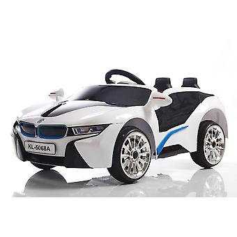 rideontoys4u unlicenced white bmw i8 style 2 x 6v electric ride on car with