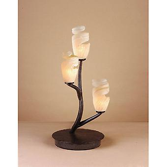 Table Lamp Forest 3 Bulbs G9, Brown / Oxidized Black