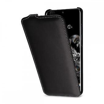 Case For Samsung Galaxy S20 Ultra Ultraslim Black Nappa In True Leather