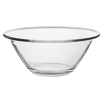 Bormioli Rocco Mr Chef Glass Nesting Mixing Bowl - Heavy Duty, Dishwasher and Microwave Safe - 4L