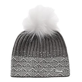 Nevica Womens Diamond Beanie Hat Ski Pom Pom Knitted Outdoor