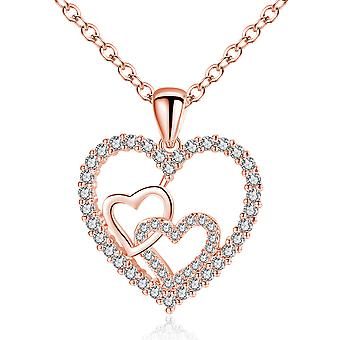 Hearts And Hearts Pendant Necklace