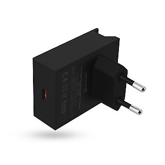 Charger USB type C 18W Power Delivery Quick Charge Swissten Black