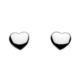 Boucles d'oreilles Dew Sterling Silver Solid Heart Stud 4006HP