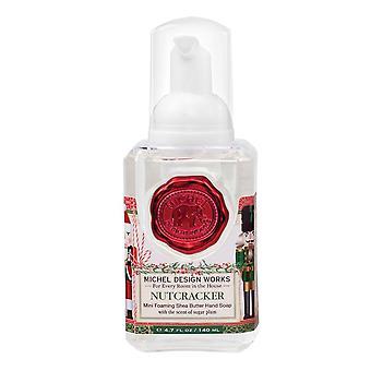 MICHEL DESIGN Michel Design Nutcracker Peppermint Or Tartan Mini Foam Hand Soap FOAMS07