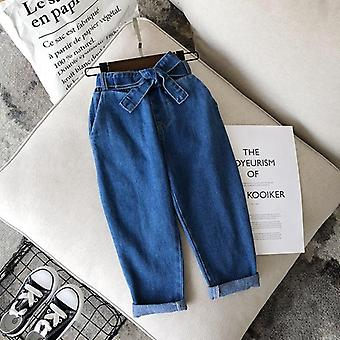 Spring, Autumn Sports Jeans Pant, Casual Denim Trousers With Waistband