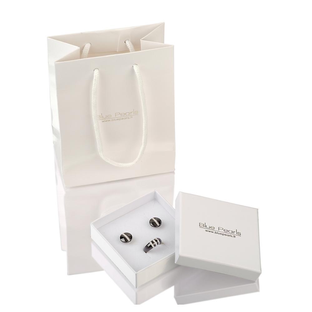 Collier Pendentif Perle de culture blanche, cristal et Argent 925