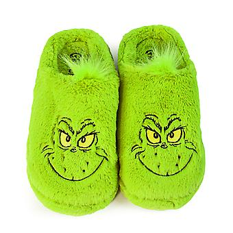 The Grinch Slippers Christmas Movie Gift Adults Men Women Faux Fur House Shoes