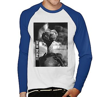 E.T. Phone Home Cinematic Shot Men''s Baseball Long Sleeved T-Shirt