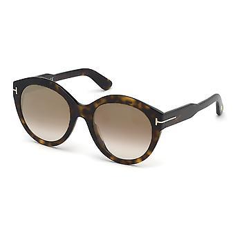 توم فورد روزانا TF661 52G الظلام هافانا / براون مرآة النظارات الشمسية