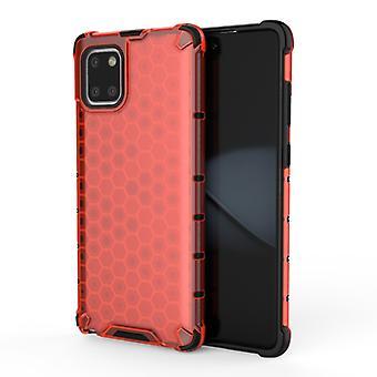 ل Galaxy S10 Lite 2019 / A91 / M80s شوكة العسل PC + TPU Case (أحمر)